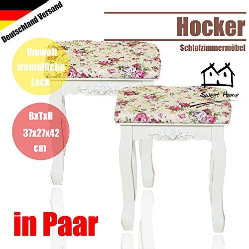 2 X Schminkhocker 'Rose' Hocker Schminktisch Schminktischhocker