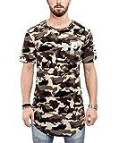 Phoenix Allstar Oversize T-Shirt Camo Woodland Herren Longshirt Camouflage - S