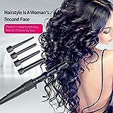 Ckeyin BlackInkint Ceramic Hair Waves Curling Wand Roller Iron Set Adjustable Temperature Hairdressing