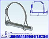 Federbügelbolzen Bolzen für Bordwandscharnier Heckklappe 8 x 70 mm 8x70mm