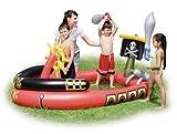 Bestway Piratenschiff Planschbecken/Play Pool mit aufblasbaren Schwerter & Wasser Cannon