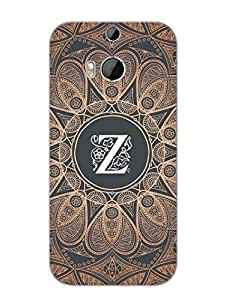 HTC One M8 Cases & Covers - Initial Z - Classy And Personalised - Designer Printed Hard Shell Case