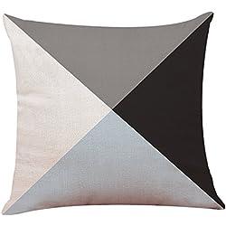 KEERADS Taie d'oreiller Canapé Housse Décor à la Maison Housse de Coussin Géométrique Simple Couvre Taie d'oreiller en Coton De Luxe Simple De Luxe