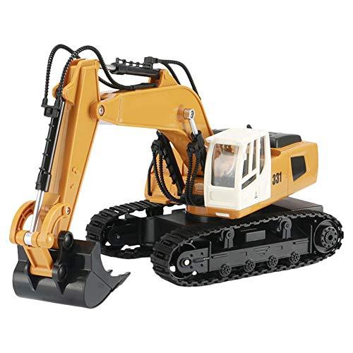2,4G 9 Kanal RC ferngesteuerter bagger Baufahrzeug kinder Modell 360 Grad Steuerungsplattform eistungsstarke Schaufel und Lichtkabine Spielzeug für Kinder*