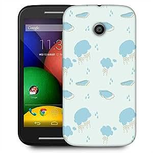 Snoogg Cloudy Rainy Pattern Designer Protective Phone Back Case Cover For Motorola E / Moto E