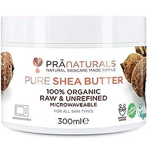 PraNaturals Manteca de Karité Hidratante 100% Orgánica 300ml, Protección UV para Todo Tipo de Piel – Hidrata y Repara…