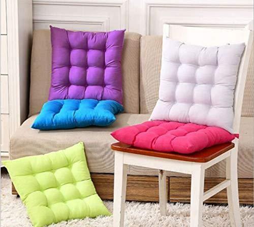 Uteruik Sitzkissen für Gartenstuhl, Büro, zum Anbinden, für Zuhause, Esszimmer, Terrasse, Küche, Dekor (Farbe zufällig)