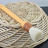 Round Plastic Handle Wool Brush Egg Oil Brush BBQ Brush Baking Tool(1PC)