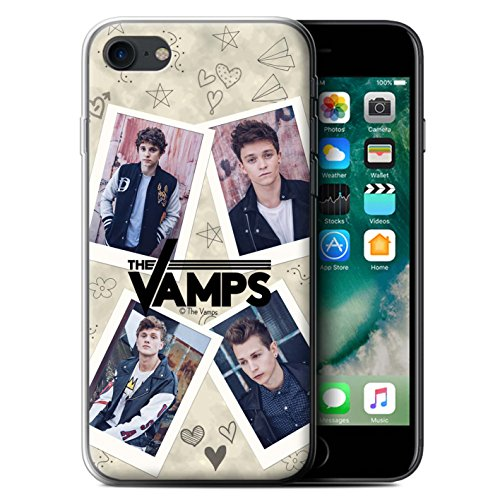 Offiziell The Vamps Hülle / Gel TPU Case für Apple iPhone 7 / Collage Muster / The Vamps Doodle Buch Kollektion Mappe