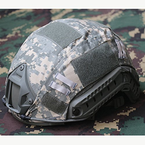 Für Helm-cover Fast-helm (Softair Helm Cover Paintball Tactical Military Combat für ops-core Schnell Ballistic Helme Armee Jagd Shooting Gear Fast Helme, unisex, ACU)