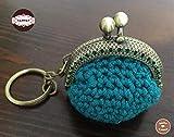 Bolsito Llavero Crochet Handmade Hecho a Mano Bolso Mujer
