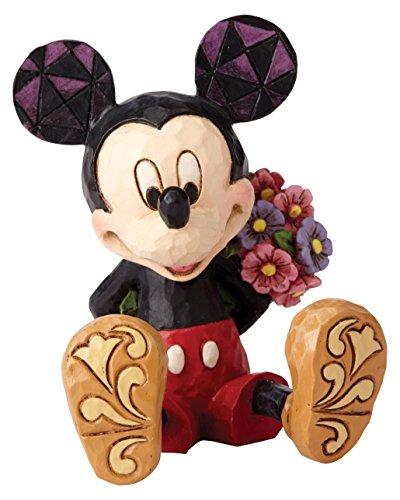 Enesco Disney Tradition By Jim Shore Mickey Sentado Mini Figurita Decorativa, Pvc, Multicolor, 4 X 6 X 6 cm