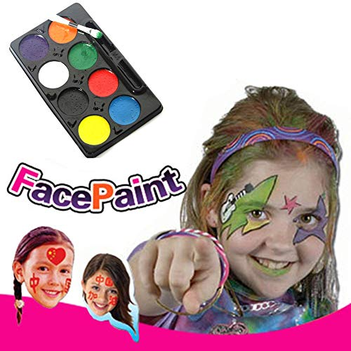 yimosecoxiang yimosecoxiang New Halloween Make Up Requisiten speziellen Festival bietet DIY Make Up Cosplay Clown Gesicht Gemälde Palette Body Paint 8 Farben Halloween