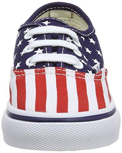 Vans Authentic, Sandales Mixte Enfant Multicolore (Stars/Stripes)