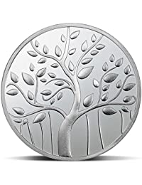 MMTC-PAMP Silver Banyan Tree Coin with Capsule Packing, 10g(Silver)