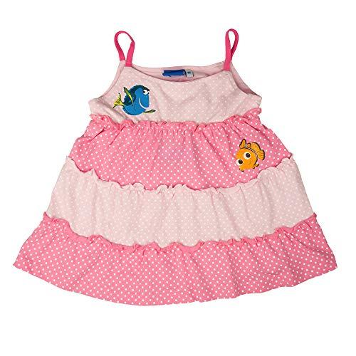 Findet Nemo Baby Kleid mit Nemo und Dorie für Mädchen, Spaghetti-Träger, Rosa   Größe 68