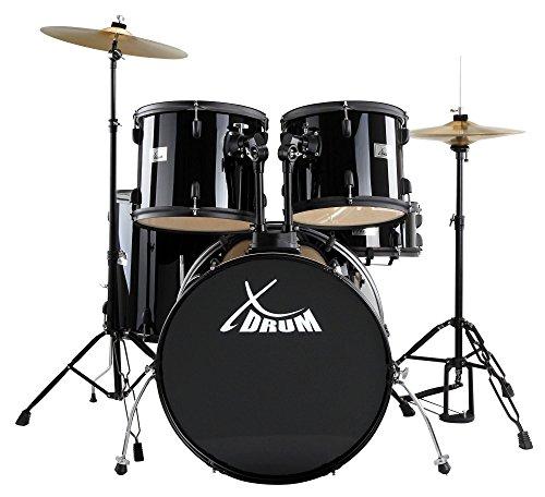 xdrum-rookie-ii-standard-komplettset-5-teilige-hardware-22-bass-drum-hi-hat-crash-ride-becken-inkl-h