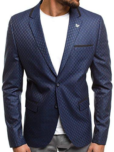 OZONEE Herren Sakko Business Blazer Anzugjacke Kurzmantel SIVIS PARIS 1700  XL 54 DUNKELBLAU 014f22b9d5