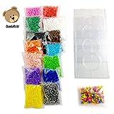 Bastelbär - 10.000 Bügelperlen - inkl. 4teilige Jumbo-Steckplatte und Neon-Perlen