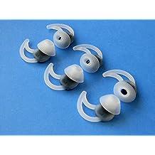 6 Stück - 3 Paar Groß (L) Geräuschisolierung mit Extra Schicht Komfort Ohrstöpsel Ohreinsätze für QuietComfort 20, QuietComfort 20i, QC20 und QC20i In Ear Ohrhörern