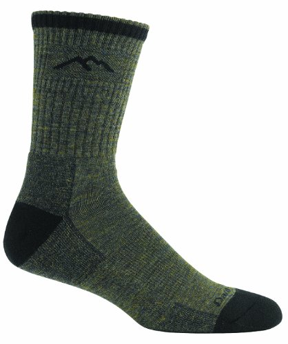 Darn Tough Vermont Herren Coolmax Micro Crew, Herren, wald (Coolmax Crew Sock Hiking)