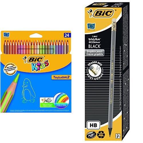 bic-pack-24-lapices-de-colores-tropicolors-12-unidades-lapiz-de-grafito-bic-evolution