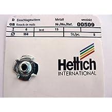 Hettich Einschlagmuttern M6 Metall verzinkt 8 St/ück Artikelnr 00511