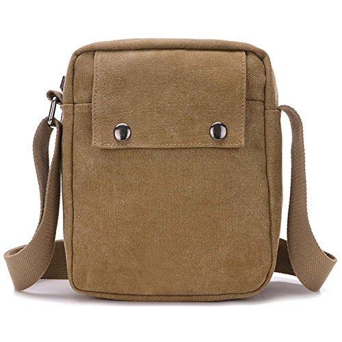 ... Outreo Borsa Tracolla Uomo Vintage Borse da Spalla di Tela Sacchetto  Piccolo Canvas Messenger Bag Studenti ... 92ee5ccd2b8
