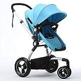 SHH Baby mit drei Rädern kann sitzen liegend leichte faltbare Kinderwagen Baby Landschaft Kinderwagen hoch, (Farbe : C)
