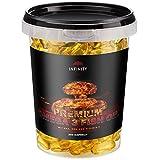 Premium Omega 3 Fish Oil, 250 Kapseln, Hochdosiert - 1000mg Lachsöl - Fischöl mit EPA, DHA, Vitamin E - Fettverbrennung Diät Muskelaufbau
