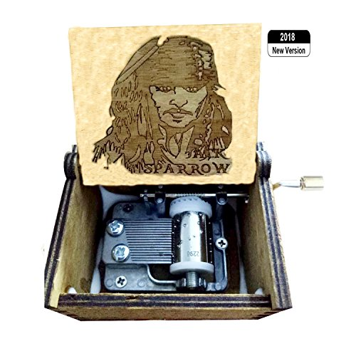 "BADARENXS Reine Hand-Klassischen""Harry Potter"",Pirates of The Caribbean,Jack Sparrow Musik-Box Hand-Hölzerne Spieluhr Kreative Holz Handwerk Beste Geschenke"