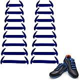 Wealsex Conjunto Elásticos De Silicona Sin Encaje Prueba De Agua Varios Colores 16 Piezas Un par (azul)