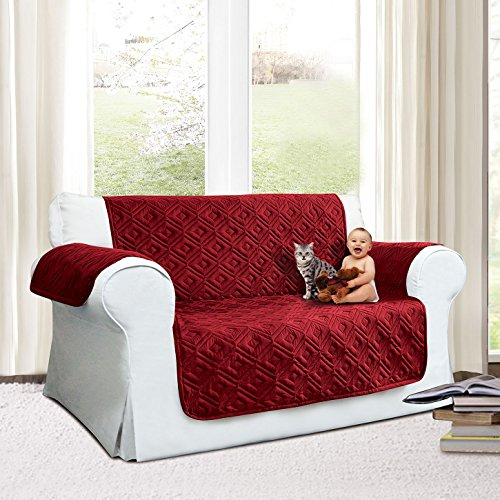 Imperial stanze trapuntato divano divano copertura divano, resistente all' acqua, modello disponibile in tre misure 1,2& 3posti, burgundy, two seater