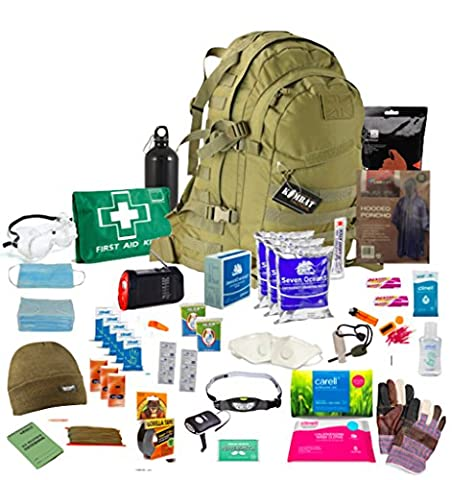 Bug Out Bag (Coyote) One Person 72hr Emergency Kit,Essential for this day and age