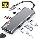 USB C HUB HDMI 4K,【Neueste Version】StillCool 7-in-1 Type C Adapter mit 3 USB 3.0 Anschlüssen,...