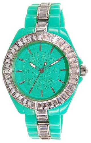 Jet Set J15144-02 - Reloj analógico para mujer de otros materiales Resistente al agua tuquesa