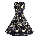 Weihnachtskleid Damen UFODB Elegant Frau Tanz-Kleid Ballkleider Slim Promi-Kleider Tanzkleider Businesskleid Bleistiftkleid Freizeitkleid Cocktailkleider