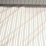 Stoff Viskose Futter Taft weiß Streifen Futterstoff