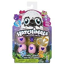"""Hatchimals 6041338 """"Collegtibles 4 Pack + Bonus - Kits de figuras de juguete para niños, Multicolor, 177.8 x 44.5 x 228.6 mm, colores surtidos"""