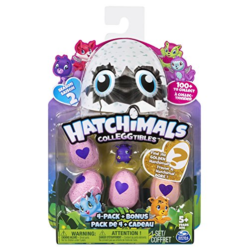 "Hatchimals 6041338 ""Collegtibles 4 Pack + Bonus - Kits de figuras de juguete para niños, Multicolor, 177.8 x 44.5 x 228.6 mm, colores surtidos"
