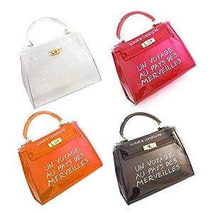 Damen Glamour Handtasche Damentasche Tasche Henkeltasche, Koreanische Version All-Matched Candy Farbe Gelee Paket Transparente Tasche Mode Handtasche Umhängetasche