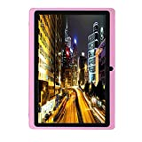 SO-buts Google Android 4.4 KitKat Quad-Core-Tablet, 7-Zoll mit WiFi-Tablet, Die maximale Kapazität beträgt 32 GB, HD-Display Dual-Kamera WiFi Bluetooth, (Rosa)