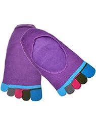Culater® 1 par cinco dedos calcetines del tobillo del dedo del pie (Púrpura)