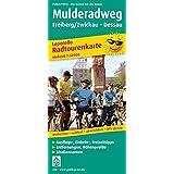 Mulderadweg, Freiberg/Zwickau - Dessau: Leporello Radtourenkarte mit Ausflugszielen, Einkehr- & Freizeittipps, wetterfest, reissfest, abwischbar, GPS-genau. 1:50000