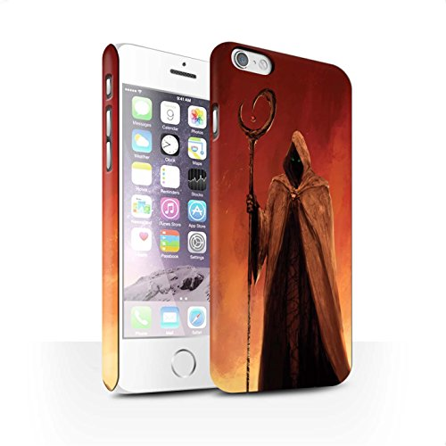 Offiziell Chris Cold Hülle / Matte Snap-On Case für Apple iPhone 6 / Gevatter Tod Muster / Dämonisches Tier Kollektion Gevatter Tod