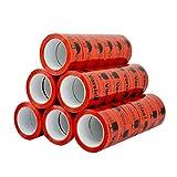 36 Rolle Braun/Transparent/Rot Klebeband Paketband Extra Stark 50 mm x 66 Meter NEU (Rot (VORSICHT GLAS!))