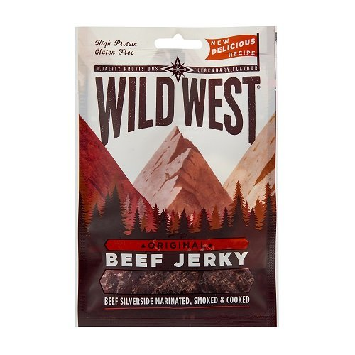Wild West Original Beef Jerky, 12er Pack (12 x 25 g)