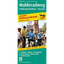 Mulderadweg, Freiberg/Zwickau - Dessau: Leporello Radtourenkarte mit Ausflugszielen, Einkehr- & Freizeittipps, wetterfest, reissfest, abwischbar, GPS-genau. 1:50000 (Leporello Radtourenkarte/LEP-RK)