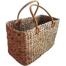 Einkaufstasche aus Wasserhyazinthe groß Korb Tasche Einkaufskorb Korbtasche