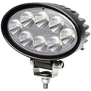 HELLA 1GA 357 001-001 Faro de trabajo – Valuefit O1200 – LED – 12V/24V – oval – 1200lm – montaje exterior – de pie – Iluminación campo cercano – Cable: 530mm